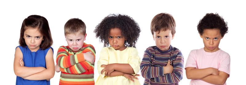 Five angry kids
